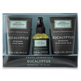Caswell-Massey Shave Essentials Eucalyptus Try Me Set
