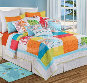 Tropic Escape Full Queen Quilt