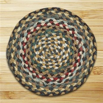 Fir & Ivory Round Braided Rug 4'x4'