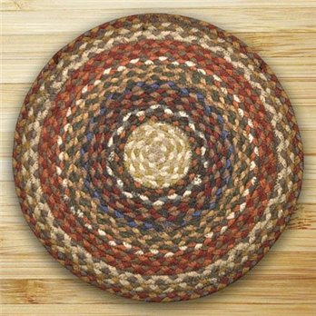 Honey, Vanilla & Ginger Round Braided Rug 4'x4'