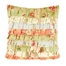 Garden Dream Ruffled Pillow