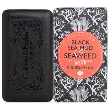 Crabtree & Evelyn Black Sea Mud & Seaweed Triple Milled Soap (5.57 oz, 158g bar)