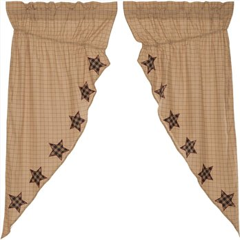 Bingham Star Prairie Short Panel Applique Star Set of 2 63x36x18