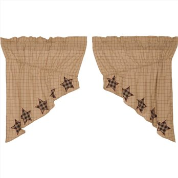 Bingham Star Prairie Swag Applique Star Set of 2 36x36x18