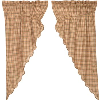 Millsboro Prairie Short Panel Scalloped Set of 2 63x36x18
