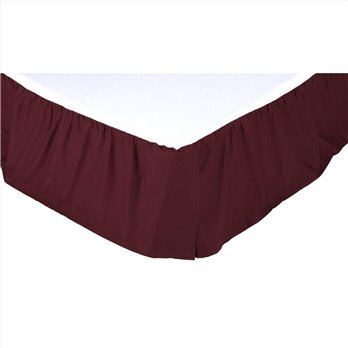 Solid Burgundy Twin Bed Skirt 39x76x16