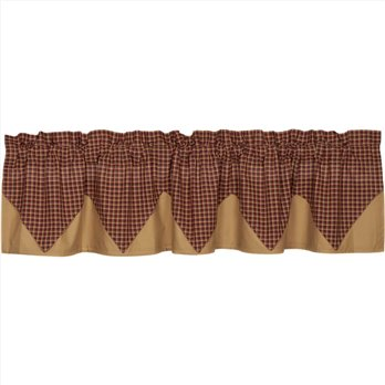 Patriotic Patch Plaid Layered Valance 16x72