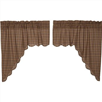Prescott Swag Scalloped Set of 2 36x36x16