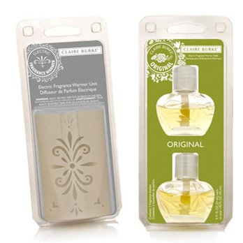 Claire Burke Original Fragrance Warmer Refill Pack Plus Warmer Unit Set