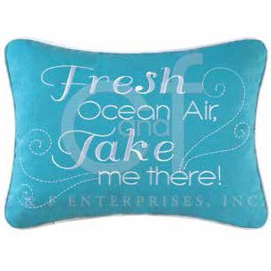 Imperial Coast Embroidered Fresh Ocean Air Pillow