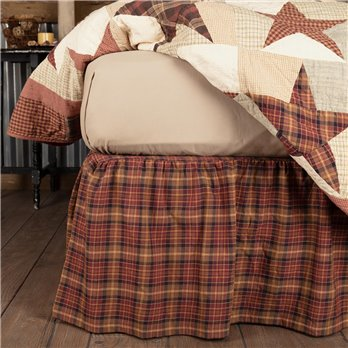 Abilene Star King Bed Skirt 78x80x16