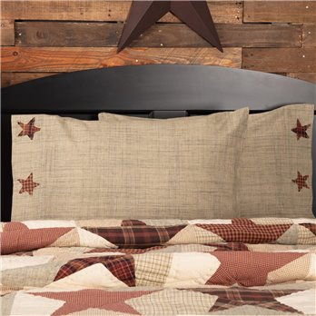 Abilene Star Standard Pillow Case Set of 2 21x30