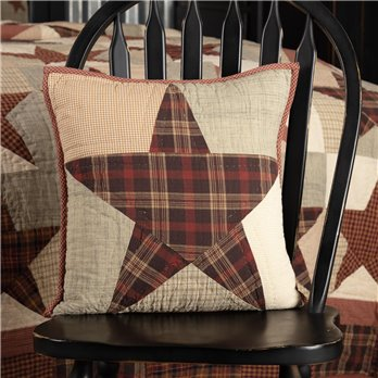 Abilene Star Quilted Pillow 16x16