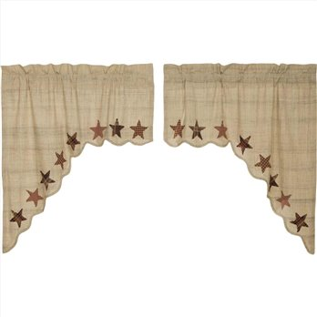 Abilene Star Swag Set of 2 36x36x16