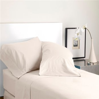 Modern Living Solid Color T300 Standard Cream Pillowcase Pair