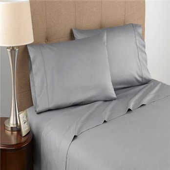 Modern Living T300 Certified Organic Cotton Queen Grey Sheet Set