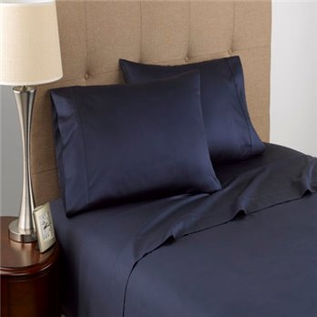 Modern Living T300 Certified Organic Cotton Queen Navy Sheet Set