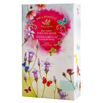 Pre de Provence Floral Meadow Gift Box of 3 Soaps