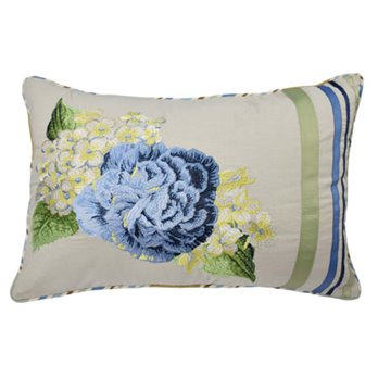 Floral Flourish 14x20 Embroidered Decorative Pillow