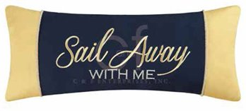 Channel Harbor Embroidered Sail Away Pillow