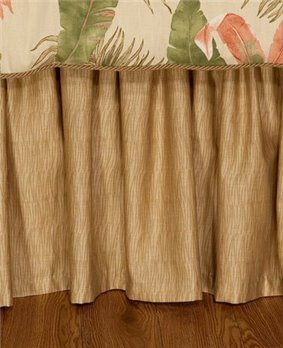 "La Selva Natural Twin 15"" Drop Bedskirt"