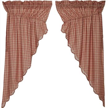 Independence Scalloped Prairie Short Panel Set of 2 63x36x18