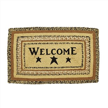 Kettle Grove Jute Rug Rect Stencil Welcome 20x30