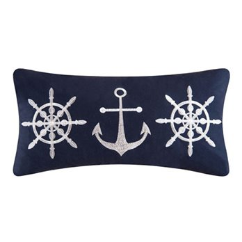 Sailor's Bay Embroidered Pillow