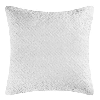 Basketweave White Euro Sham Set of 2