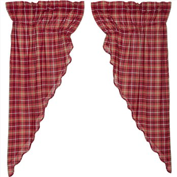 Braxton Scalloped Prairie Short Panel Set of 2 63x36x18