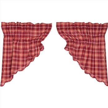 Braxton Scalloped Prairie Swag Set of 2 36x36x18