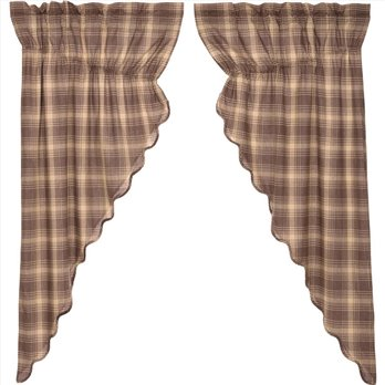 Dawson Star Scalloped Prairie Short Panel Set of 2 63x36x18