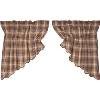 Dawson Star Scalloped Prairie Swag Set of 2 36x36x18