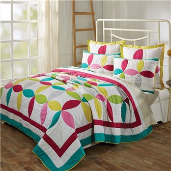Everly Lux King Set; Quilt 120Wx105L-2 Shams 21x37