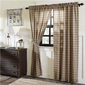 Sawyer Mill Charcoal Plaid Panel Set of 2 84x40