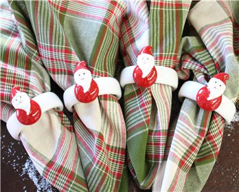Santa Napkin Ring set of 4