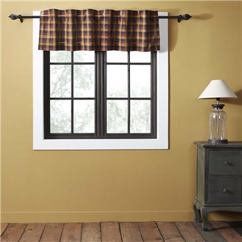 Heritage Farms Primitive Check Valance 16x60
