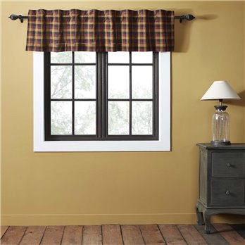 Heritage Farms Primitive Check Valance 16x72