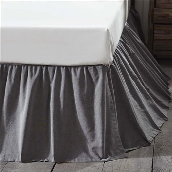 Black Chambray Queen Bed Skirt 60x80x16