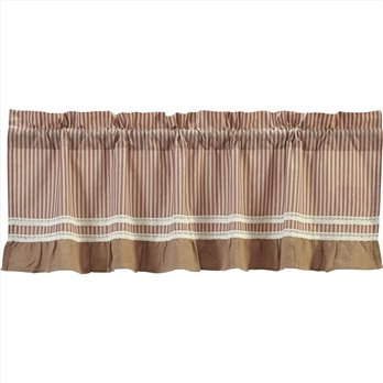 Kendra Stripe Red Valance 19x60