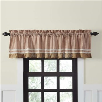 Kendra Stripe Red Valance 19x72