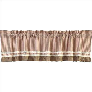Kendra Stripe Red Valance 19x90