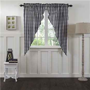 Annie Buffalo Black Check Prairie Short Panel Set of 2 63x36x18