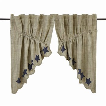 "Vincent Scalloped Prairie Swag Set of 2 36""x36"""