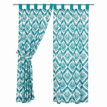 "Karina Tab Top Short Panel Set of 2 63""x36"""