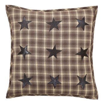 "Dawson Star Applique Pillow W/Down Fill 18""x18"""