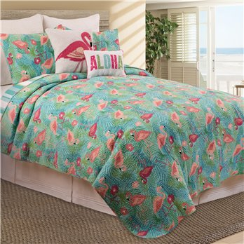 Isla Tropics 3 Piece Queen Quilt Set