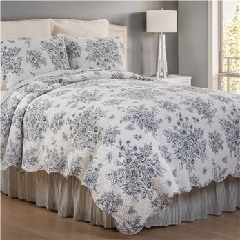 Nelly Onyx 3 Piece King Quilt Set