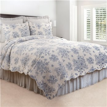 Nelly Blue 2 Piece Twin Quilt Set
