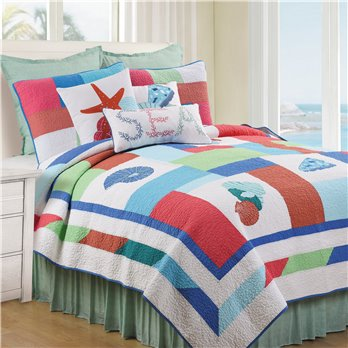 Antigua Bay 3 Piece King Quilt Set